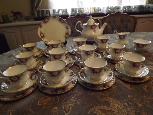 Royal Albert Celebration 41 piece tea set complete for 12 people.