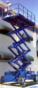 CHERRY PICKERS - UPRIGHT LX 50 17M DIESEL SCISSOR  LIFT HIRE/SALE