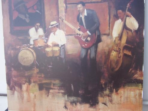 Myles Sullivan - Jazz  Print - 70cm X 70cm - in excellent condition