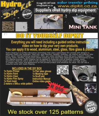 Hydro DIY dipkit - Water transfer/ Hydro graphic printing South Africa