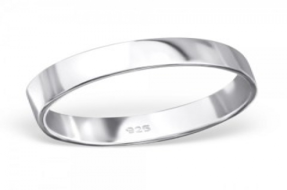 .925 SOLID STERLING SILVER 5MM FLAT WEDDING BAND