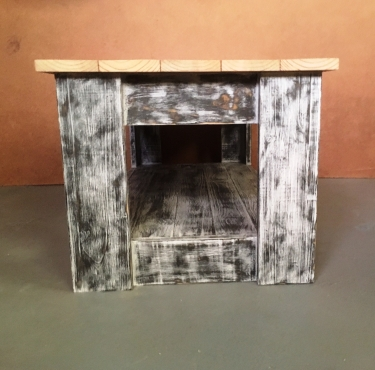 Coffee table Cottage series 1200 with shelf (Chalk paint distressed Two tone)