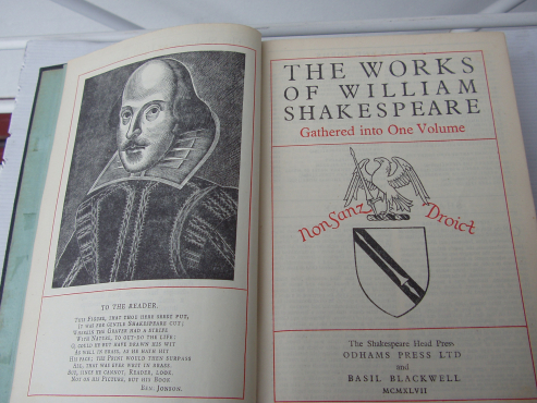 The Complete Works of William Shakespeare vintage -  rare - Oldhams and Blackwell