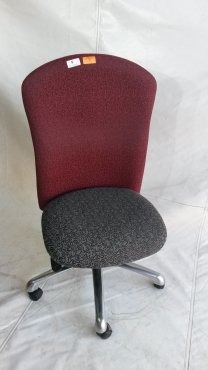Maroon and grey office chair