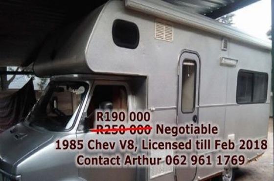 Chev 1985 CF 350 V8 camper / motor home for sale