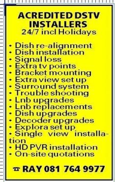 dstv installations/repairs muizenberg 24/7 0817649977