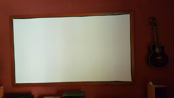 Projector and huge large screen for sale