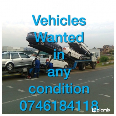 Accident damagd vehicles wanted..
