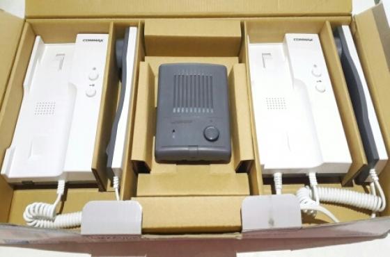 Commax 1 to 2 Audio Intercom System Kit New