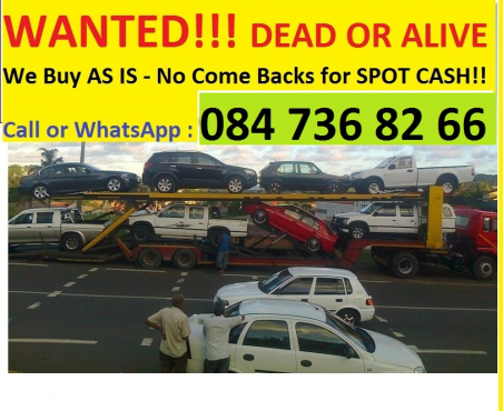Cash for cars Gauteng and Western Cape and Kwa Zulu Natal