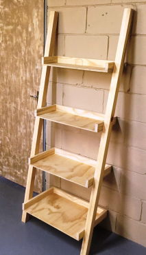 Display unit leaning ladder Cottage series 1800 Four tier Raw