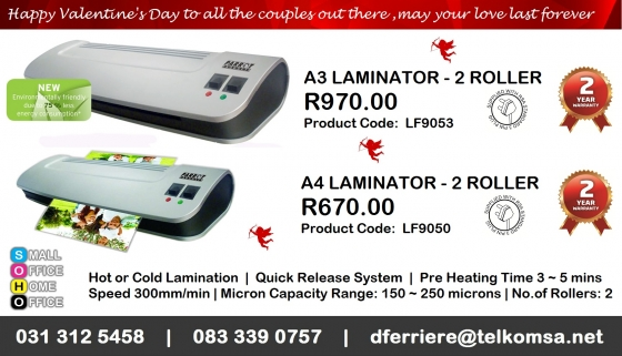 Laminators | Laminating Pouches - Valentine's Day Promotion