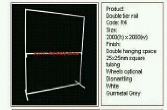 Clothing rails for sale From 799