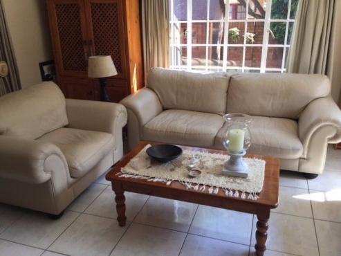 Genuine Leather 3 Piece Lounge suite