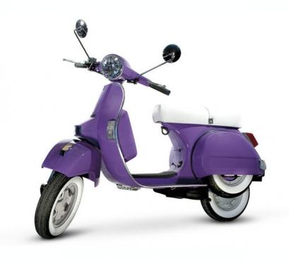 A brand new Purple/Lilac VESPA/ Piaggio licenced 150cc LML