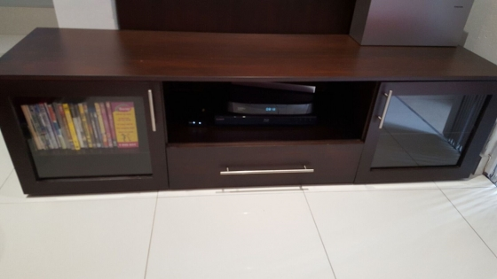 Dark Mahogany Plasma TV unit for sale