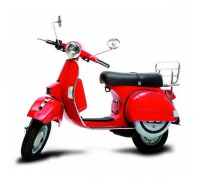 A brand new Milano Red VESPA / Piaggio licenced 150cc LML
