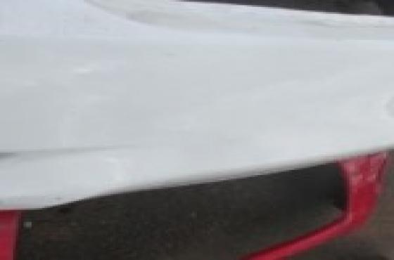 2013 Toyota Corolla Rear Bumper White For Sale.