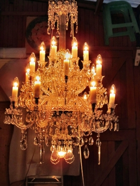 Crystal Chandelier, repair, rewirering, cleaning