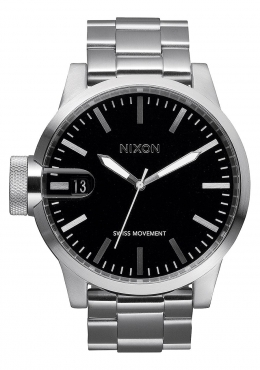 Nixon 'THE CHRONICLE' stainless steel MAGNIFIED watch ( to sell or swop )