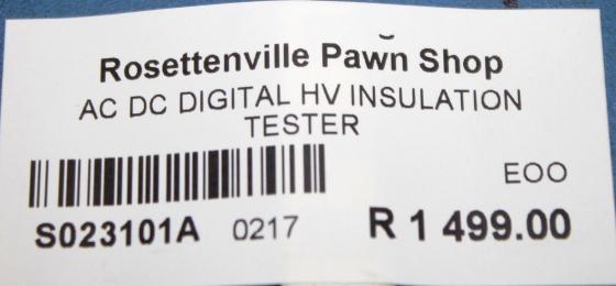 Digital HV Insulation Tester S023101A #Rosettenvillepawnshop