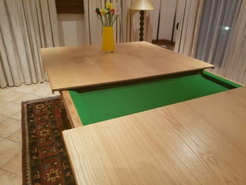 English Oak pool table.