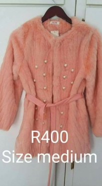 Peach fur jacket