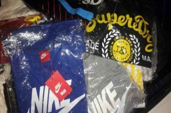 Nike, Addidas, super dry, puma shirts