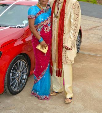 Silk Bridal Saree + Grooms Outfit