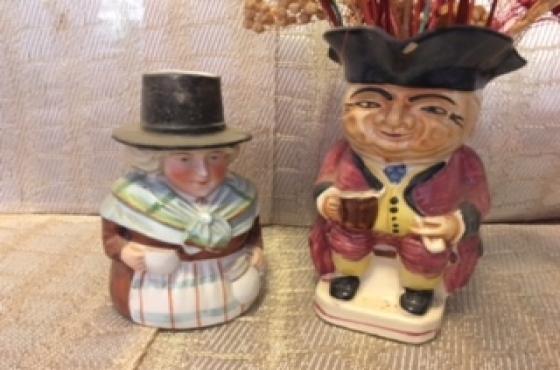 Mr & Mrs Toby Jugs (Priced per each)