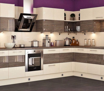 We supply and install modern build in kitchen cupboards for Kitchen design categories