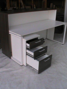 Reception unit plus 3 drawer pedestal