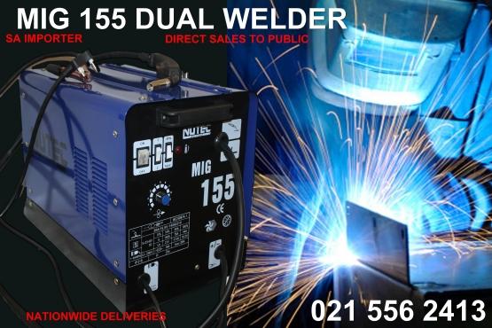 Dual welder Mig 155 Gas /no gas welder