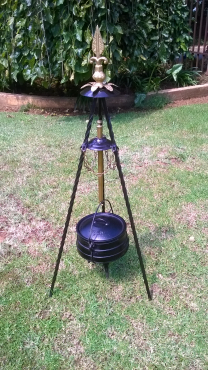 Potjie pot and hand made stand