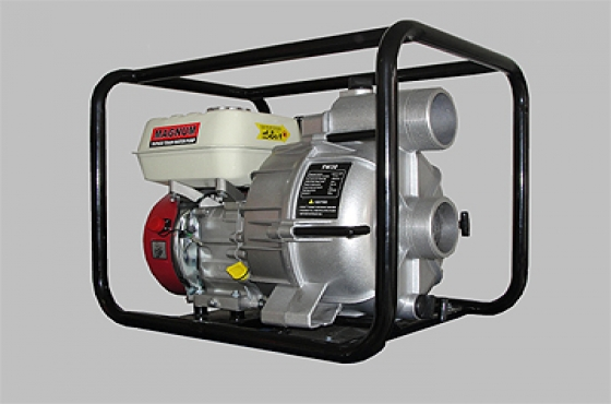 Magnum Semi Trash Pump, In Stock, New, Inlet/Outlet 80mm/3PetrolFuel Tank 3.6L