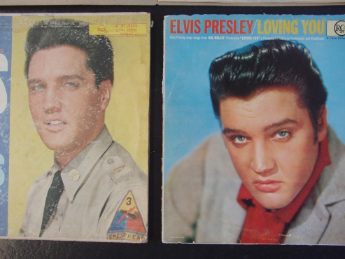 Elvis Records - 4 LP's