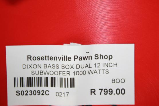 Dixon Subwoofer Box S23092C #Rosettenvillepawnshop