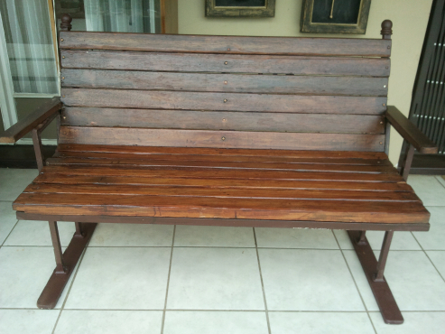 Reduced Solid Merenti Garden Bench,2 seater persons.Excelent condition