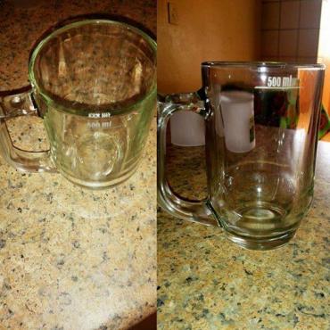 500ml Glass Beer Mugs