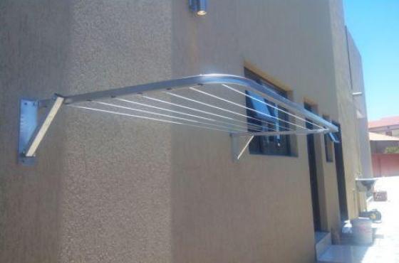 Washing lines, fold away Aluminium