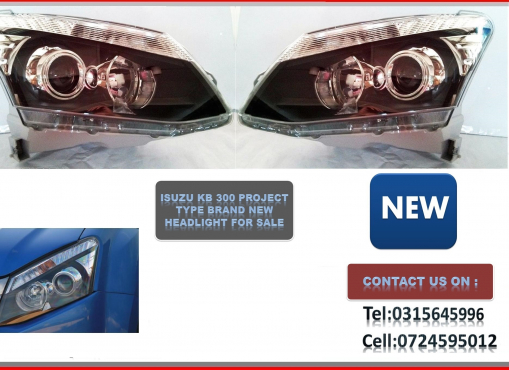 ISUZU KB 300 Brand New Headlights Projector type for sale price :R2200-->