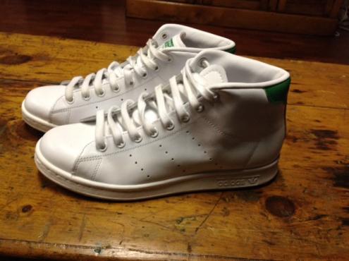 Adidas Stan Smith mid sneakers white size 6