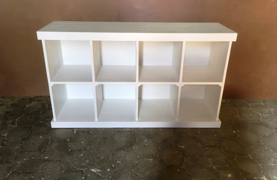 Bookshelf Farmhouse series 1800 with compartments White wash