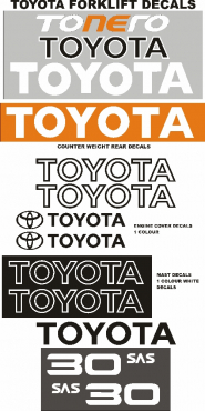 Toyota forklift graphics decals stencils