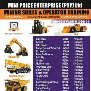 Front end loader 777 dump truck excavator course mining training rustenburg call 0733146833