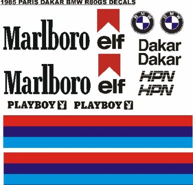 1985 BMW R80 GS Dakar marlborough decals stickers graphics sets