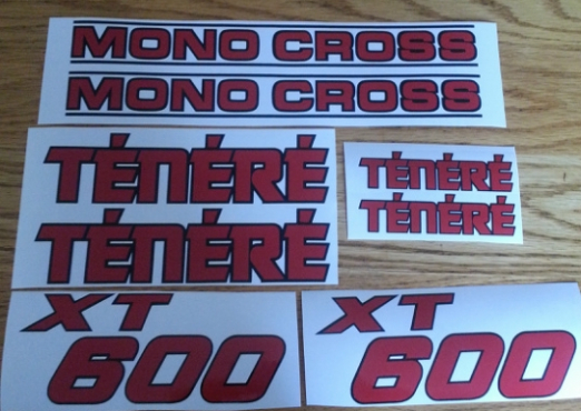 1983 Yamaha XT 600 Tenere decals stickers graphics kit