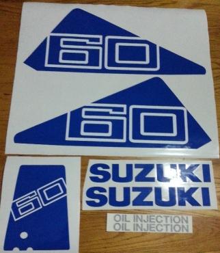 Suzuki DT60 cowl decals stickers graphics set