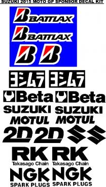 Suzuki K8 GSXR decals stickers graphics sets