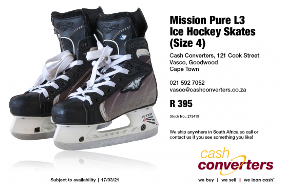 Mission Pure L3 Ice Hockey Skates (Size 4)